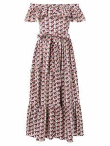 La Doublej off-shoulder print dress - Red