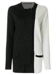 Haider Ackermann colour block cardigan - Black