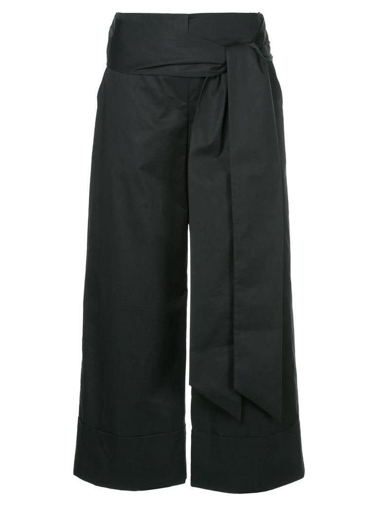 Demoo Parkchoonmoo belted wide pants - Black