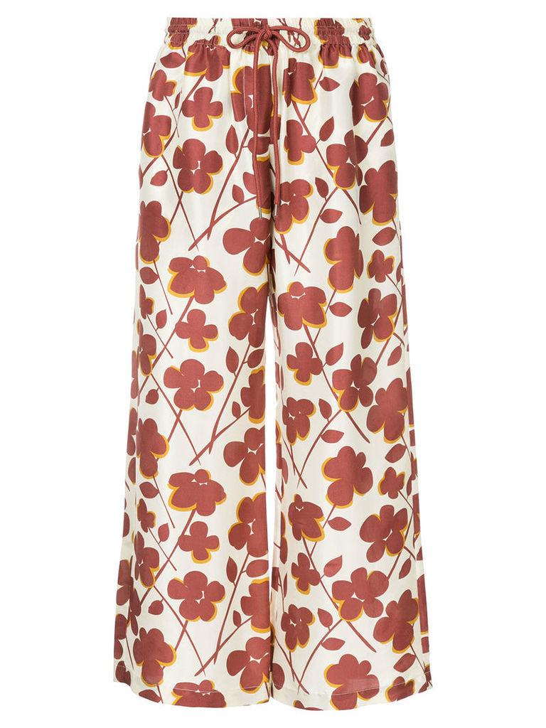 Lee Mathews Texan Rose drawstring trousers - Brown