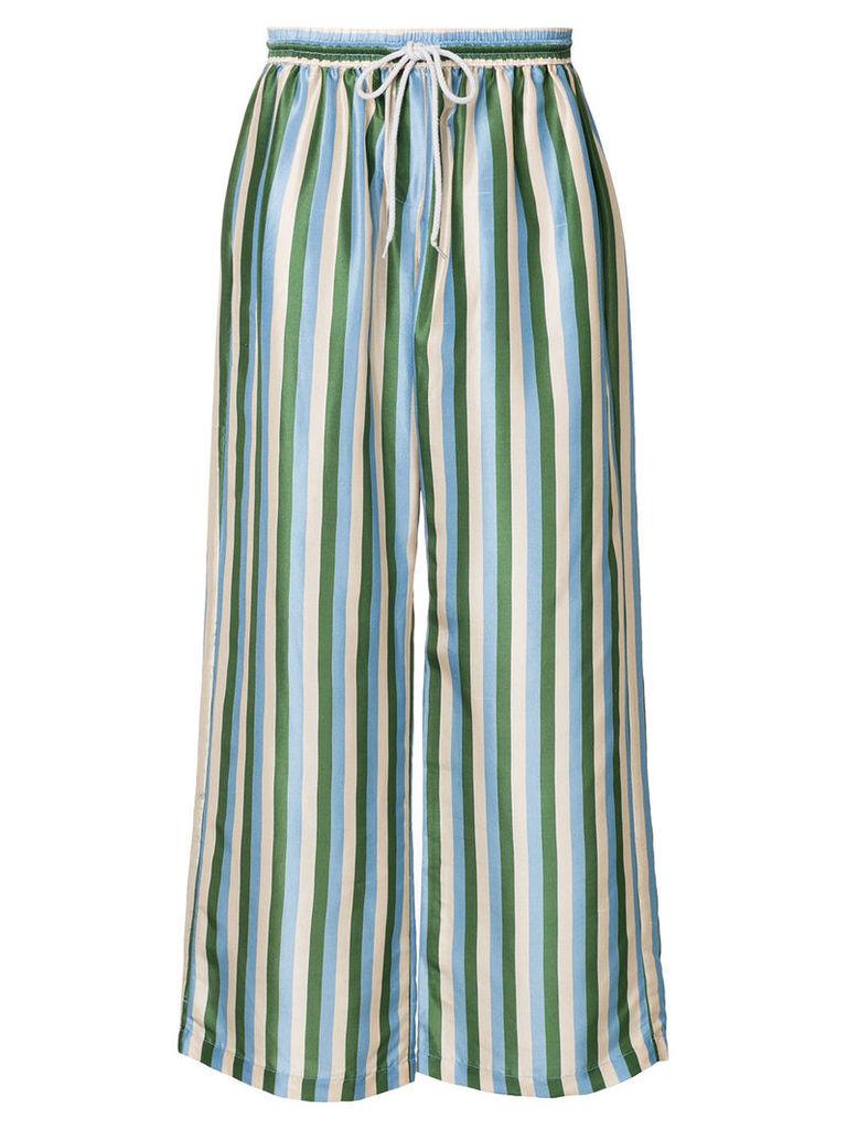Lee Mathews Smithson striped trousers - Green