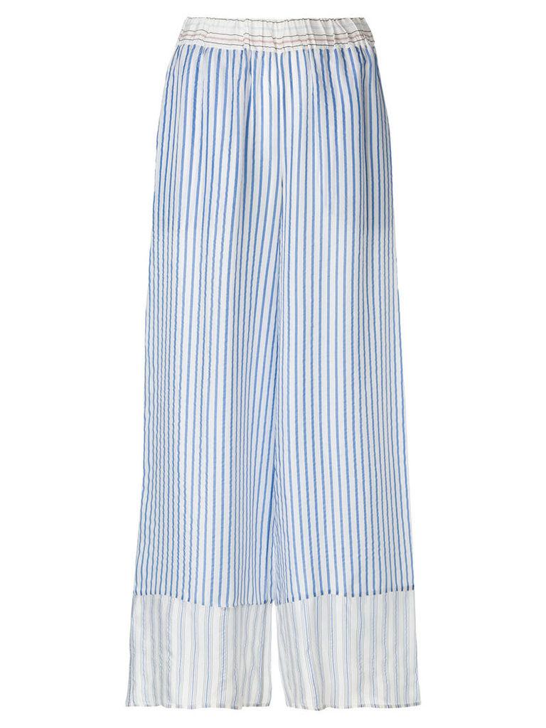 P.A.R.O.S.H. striped wide-leg trousers - Blue
