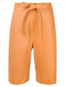 JW Anderson high-waisted tie shorts - Yellow