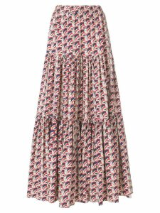 La Doublej long printed skirt - Blue