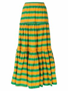 La Doublej long striped skirt - Green