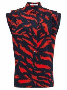 Givenchy tiger print shirt - Blue