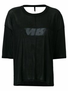 Unravel Project open-back T-shirt - Black