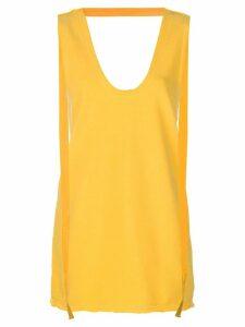 JW Anderson long jersey tank top - Yellow