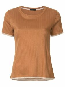 Loveless layered ribbed T-shirt - Brown