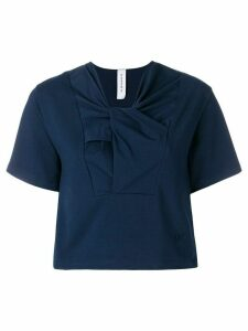 Carven twisted neck T-shirt - Blue