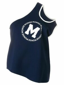 Monse one shoulder tank top - Blue