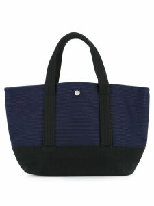 Cabas knit style small tote bag - Blue