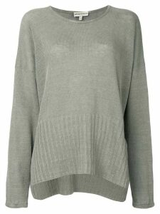 Giorgio Armani Pre-Owned loose fit slit jumper - Grey