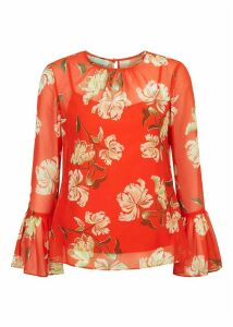 Malin Blouse Red Multi 8