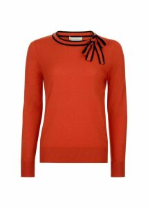 Poppy Sweater Orange Navy