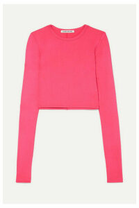 Elizabeth and James - Desmond Cropped Stretch-jersey Top - Pink