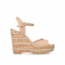 Kurt Geiger London Ally - Tan High Heel Wedge Sandals