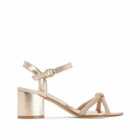 Strappy Sandals with Sequin Cord
