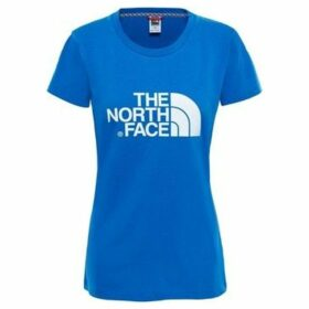 The North Face  W S/S EASY TEE - RED  women's T shirt in Blue