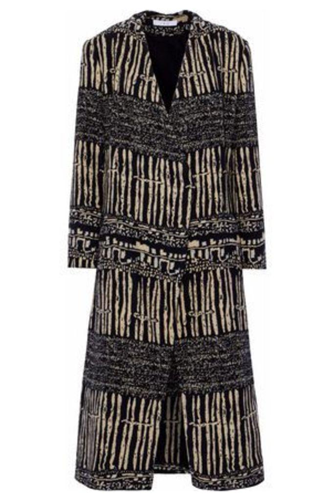 Iro Woman Cotton-blend Jacquard Jacket Black Size 40
