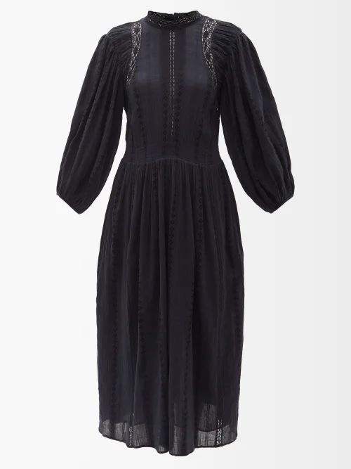Myar - Oversized Brushstroke Print Cotton Hooded Jacket - Womens - White
