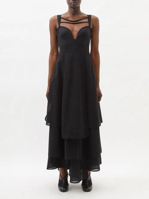 Myar - Oversized Camouflage Print Cotton Hooded Jacket - Womens - Khaki Multi