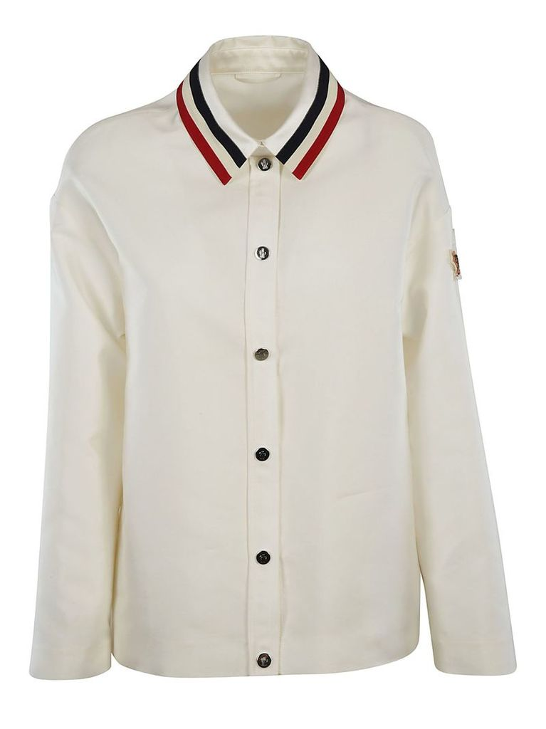 Moncler Gamme Rouge Striped Detail Collar Jacket