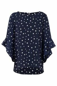 Polka Dot Batwing Top