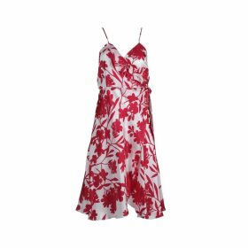 Roses Are Red - Aloise Silk Dress in Floral Fuchsia