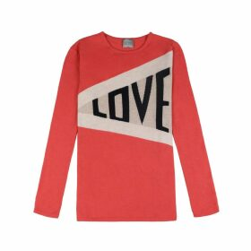 Orwell + Austen Cashmere - Love Sweater In Red