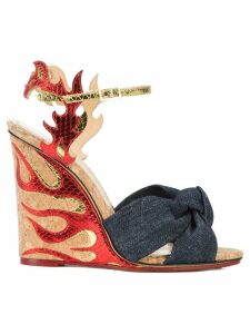 Charlotte Olympia flame wedge sandals - Blue