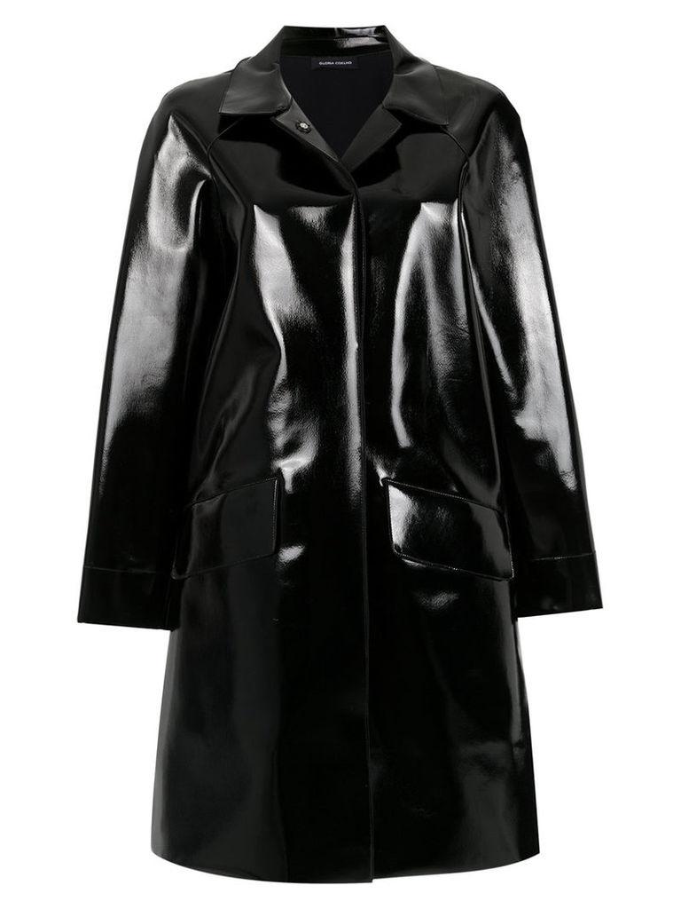 Gloria Coelho vinyl cape - Black