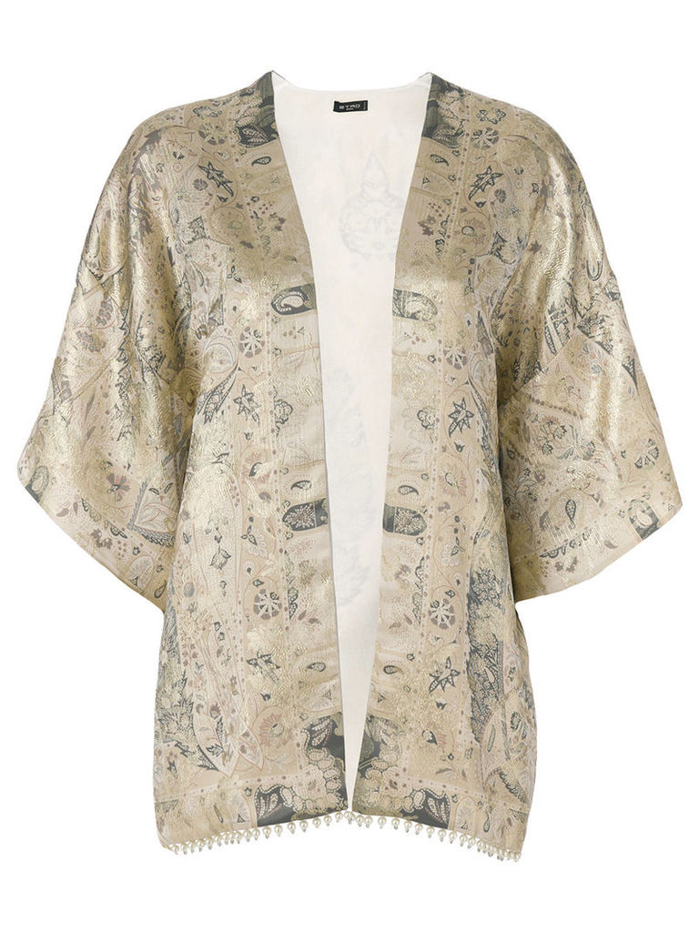 Etro patterned lightweight jacket - Nude & Neutrals