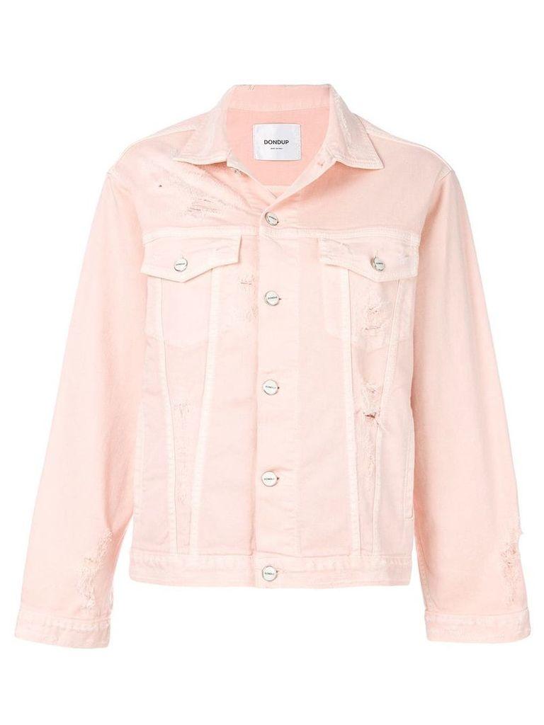 Dondup distressed denim jacket - Pink & Purple