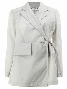Aalto lightweight tie-waist jacket - Grey