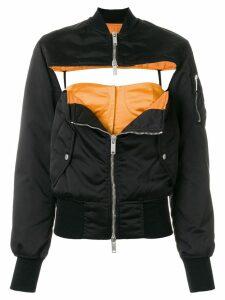 Unravel front chest hole jacket - Black