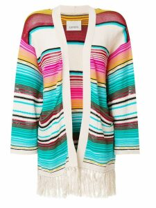 Laneus Mexico stripe cardigan - Multicolour