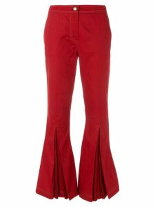Marco De Vincenzo top stitch kick flare trousers - Red