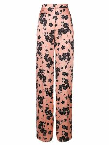 Rochas floral print high waisted trousers - Pink