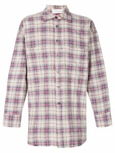 Faith Connexion checked studded oversize shirt - NEUTRALS