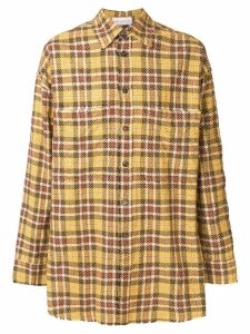 Faith Connexion oversized check shirt - Yellow