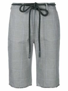 Off-White checked cycling shorts - Grey