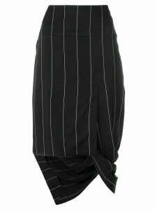 Haider Ackermann asymmetric striped skirt - Black
