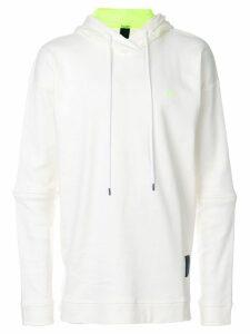 Odeur oversized logo hoodie - White