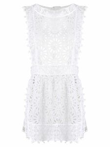 Isabel Marant long perforated blouse - White