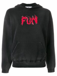 Givenchy fun printed hoodie - Black