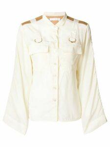 Chloé military buckled shirt - NEUTRALS