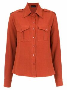Olympiah Inca martingale detailed shirt - Red