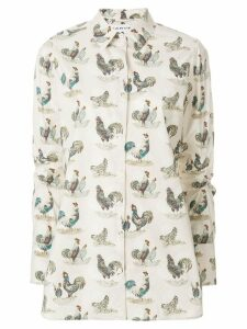 Carven print long-sleeve shirt - Neutrals