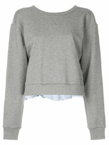 3.1 Phillip Lim tie-back ruffle sweatshirt - Grey